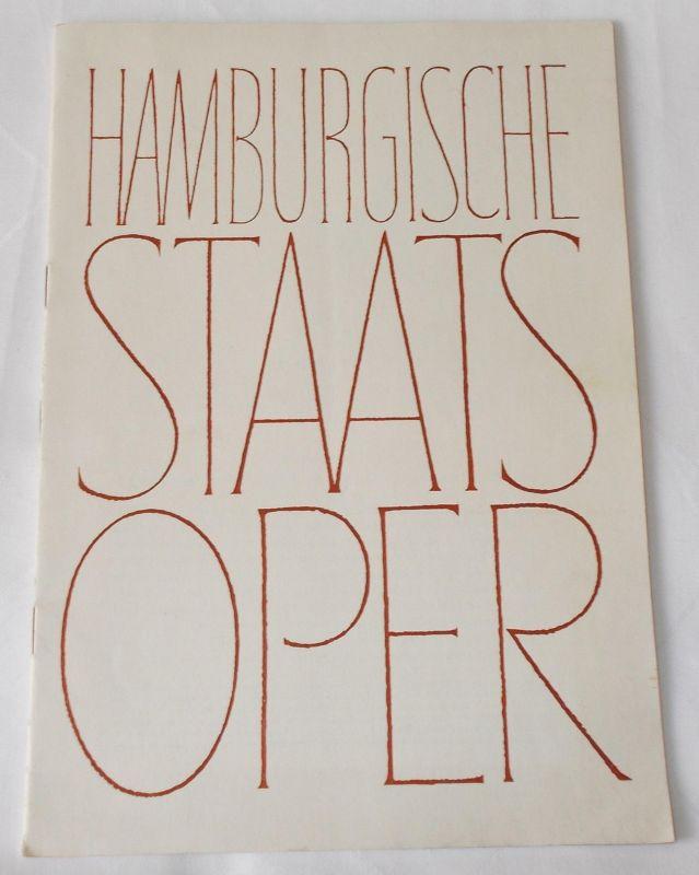 Hamburgische Staatsoper, Günther Rennert, Horst Goerges Programmheft Der fliegende Holländer. 8. Heft der Spielzeit 1955 / 56