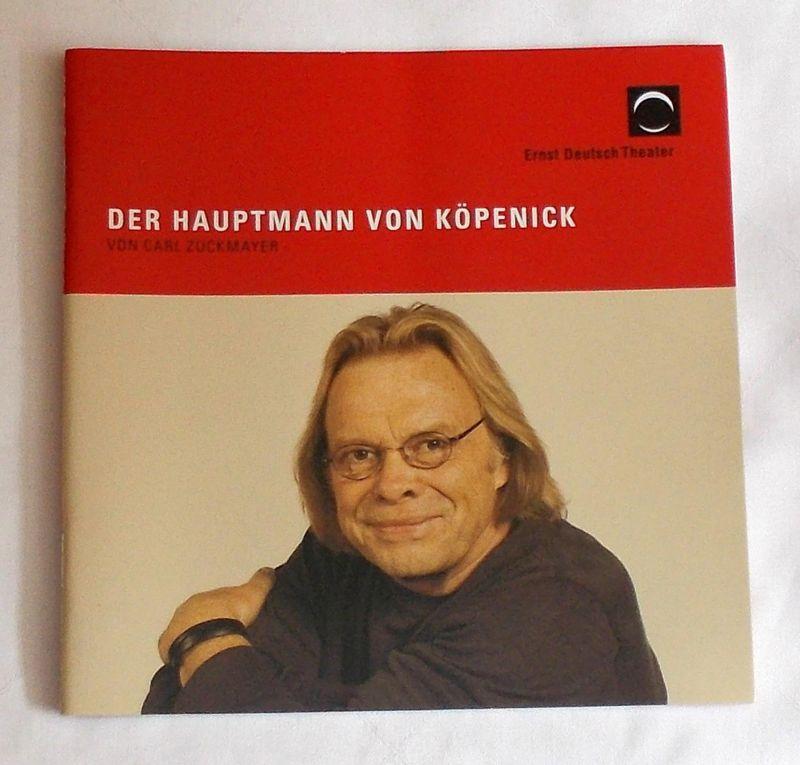 Ernst Deutsch Theater, Isabella Vertes-Schütter, Stefan Kroner Programmheft Der Hauptmann von Köpenick. Premiere 7. Oktober 2010. Spielzeit 2010 / 2011
