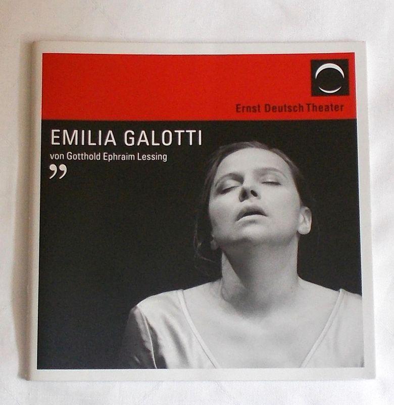 Ernst Deutsch Theater, Isabella Vertes-Schütter, Sonja Valentin Programmheft EMILIA GALOTTI. Premiere 29. Mai 2008. Spielzeit 2007 / 2008