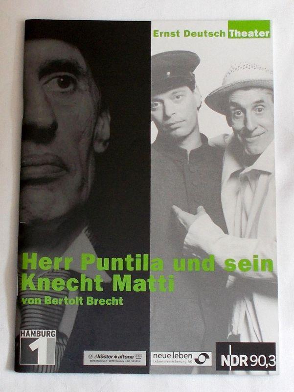 Ernst Deutsch Theater, Isabella Vertes-Schütter, Wolfgang Borchert Programmheft Herr Puntila und sein Knecht Matti von Bertolt Brecht. Premiere 22. August 2002