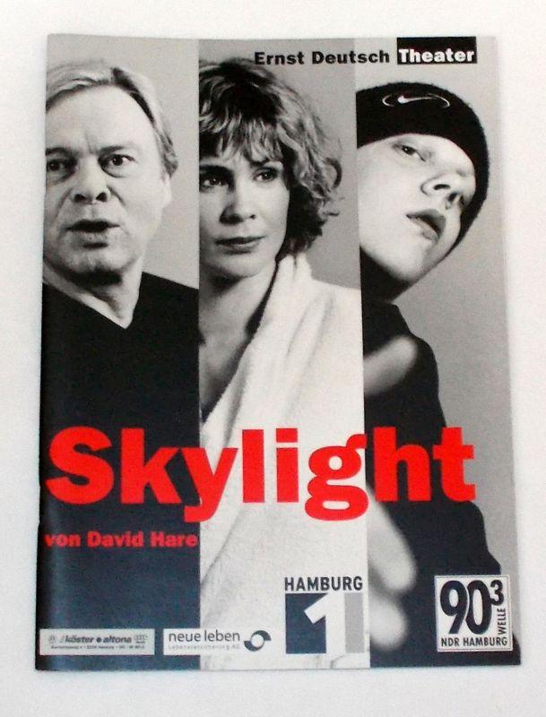 Ernst Deutsch Theater, Isabella Vertes-Schütter, Wolfgang Borchert Programmheft SKYLIGHT von David Hare. Premiere 1. März 2001