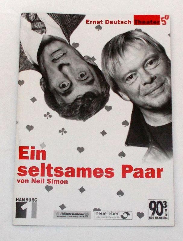 Ernst Deutsch Theater, Isabella Vertes-Schütter, Wolfgang Borchert Programmheft Ein seltsames Paar von Neil Simon. Premiere 22. November 2001
