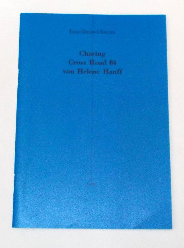 Ernst Deutsch Theater, Friedrich Schütter, Wolfgang Borchert Programmheft Charing Cross Road 84 von Helene Hanff. Deutschsprachige Erstaufführung. Premiere 18. Januar 1995