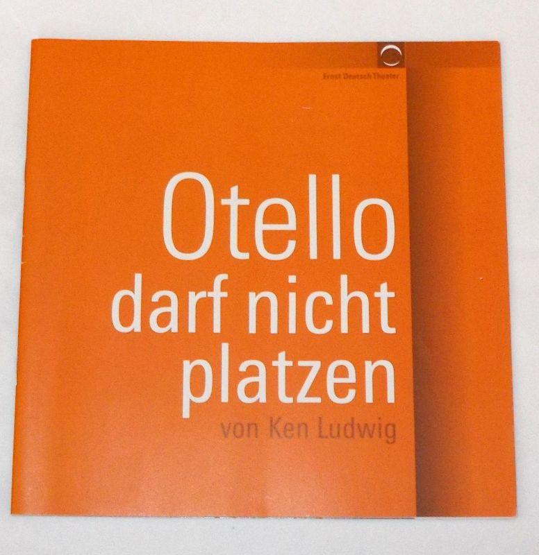 Ernst Deutsch Theater, Volker Lechtenbrink Programmheft Otello darf nicht platzen von Ken Ludwig. Premiere 17. November 2005