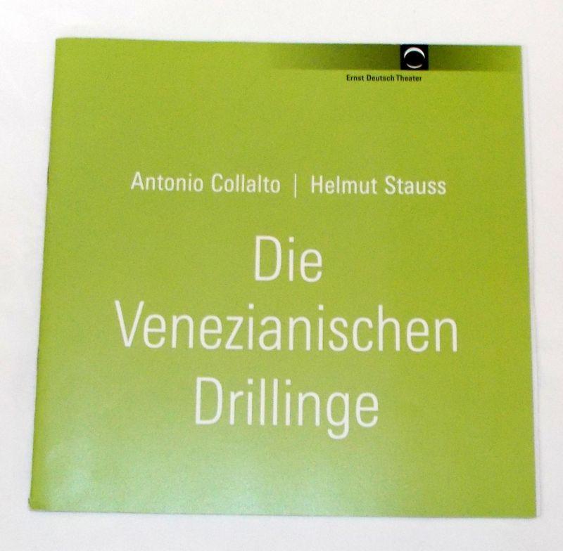 Ernst Deutsch Theater, Volker Lechtenbrink Programmheft Die Venezianischen Drillinge von Antonio Collalto und Helmut Strauss. Premiere 25. Mai 2006