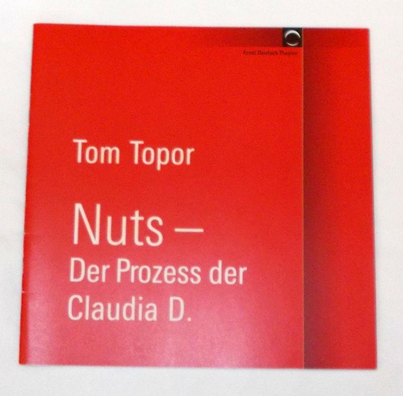 Ernst Deutsch Theater, Volker Lechtenbrink Programmheft Nuts - Der Prozess der Claudia D. von Tom Topor. Premiere 23. Februar 2006