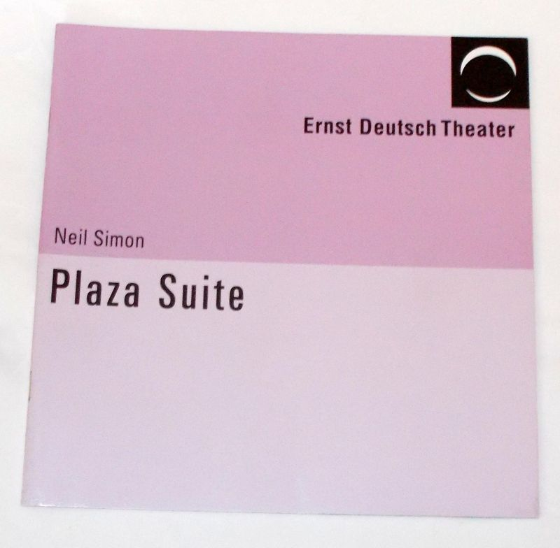 Ernst Deutsch Theater, Volker Lechtenbrink Programmheft Plaza Suite von Neil Simon. Premiere 3. März 2005