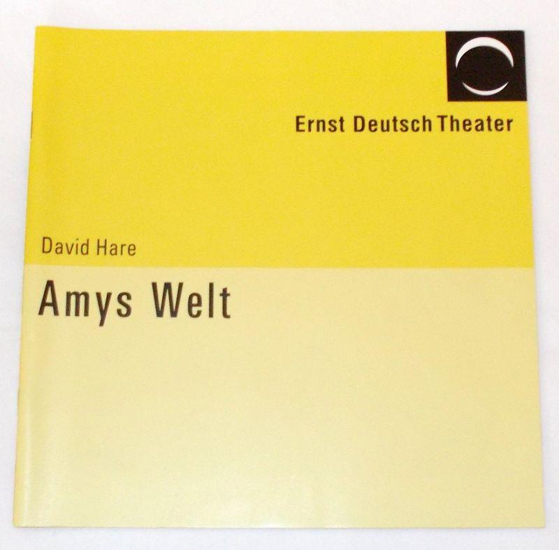 Ernst Deutsch Theater, Volker Lechtenbrink Programmheft Amys Welt von David Hare. Premiere 20. Januar 2005