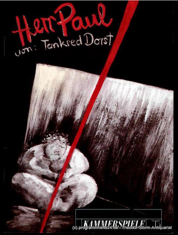Deutsches Theater und Kammerspiele Berlin, Thomas Langhoff, Maik Hamburger Programmheft HERR PAUL von Tankred Dorst. Premiere am 26. März 1994. Spielzeit 1995 / 96