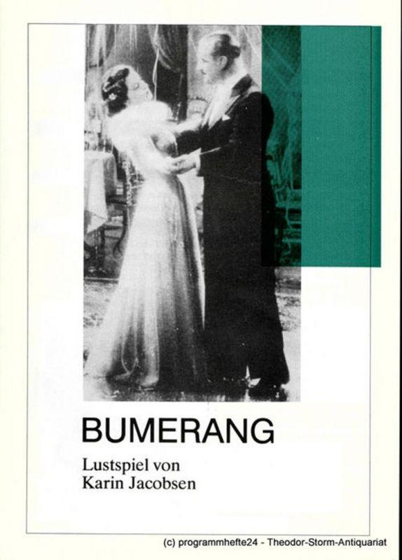 Theater der Altmark Stendal, Regina Mundt Programmheft BUMERANG. Lustspiel von Karin Jacobsen. Spielzeit 1990 / 91 Heft 11
