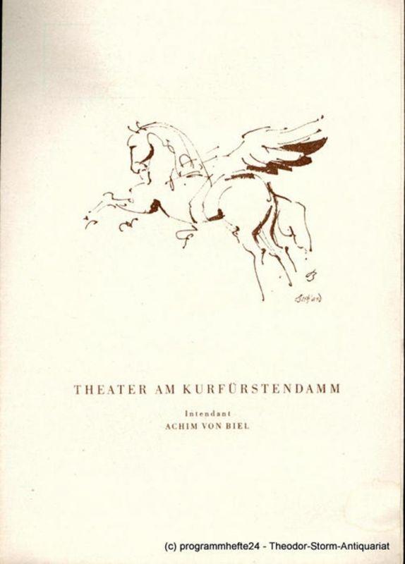 Theater am Kurfürstendamm, Achim von Biel Programmheft Ein Sommernachtstraum von William Shakespeare