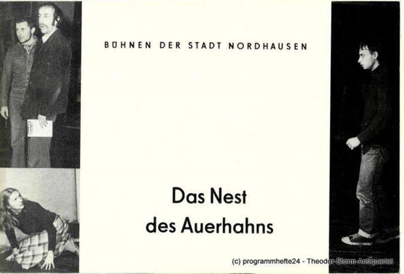 Bühnen der Stadt Nordhausen, Siegfried Mühlhaus, Helga Marhold, Bertold Niborn ( Probenfotos ) Programmheft Das Nest des Auerhahns. Premiere 14.1.1983 Heft 5 der Spielzeit 1982 / 83