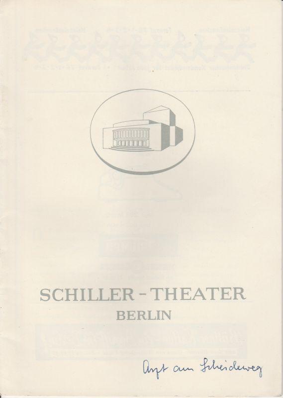 Schiller Theater Berlin, Boleslaw Barlog, Albert Beßler Programmheft Der Arzt am Scheideweg - The Doctor´s Dilemma. Komödie von Bernard Shaw. Spielzeit 1957 / 58 Heft 70