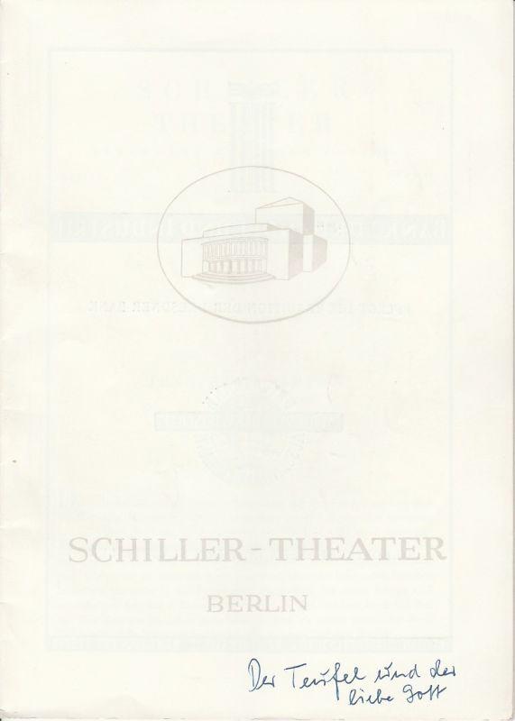 Schiller Theater Berlin, Boleslaw Barlog, Albert Beßler Programmheft Der Teufel und der liebe Gott Spielzeit 1951 / 52 Heft 11