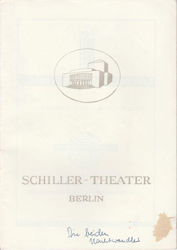 Schiller Theater Berlin, Boleslaw Barlog, Albert Beßler Programmheft Die beiden Nachtwandler. Spielzeit 1951 / 52 Heft 7