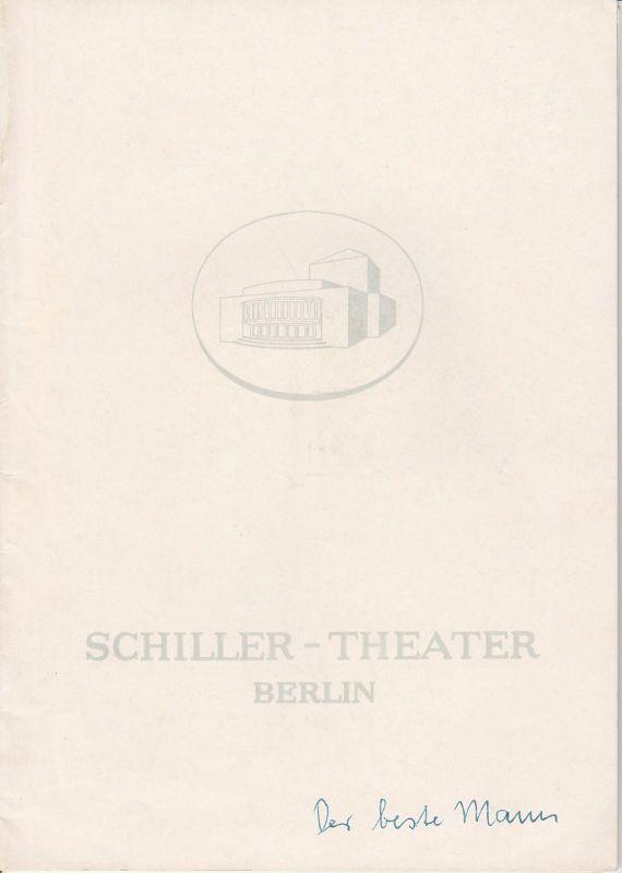 Schiller Theater Berlin, Boleslaw Barlog, Albert Beßler Programmheft Der beste Mann von Gore Vidal. Spielzeit 1960 / 61 Heft 98