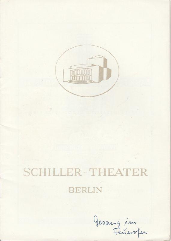 Schiller Theater Berlin, Boleslaw Barlog, Albert Bessler Programmheft Der Gesang im Feuerofen. Drama von Carl Zuckmayer. Spielzeit 1951 / 52 Heft 1