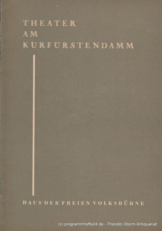 Theater am Kurfürstendamm Programmheft UNDINE. Premiere 1. Oktober 1959. Spielzeit 1959 / 1960