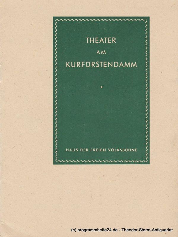 Theater am Kurfürstendamm, Siegfried Nestriepke, Oscar Fritz Schuh Programmheft Der Opernball. Premiere 26. April 1956. Spielzeit 1955 / 1956