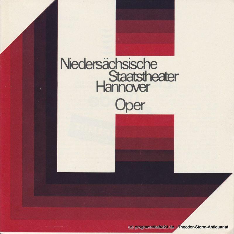 Niedersächsische Staatstheater Hannover, Oper, Günter Roth, Peter von Magnus Programmheft La Traviata. Oper von Giuseppe Verdi. Heft 2 der Spielzeit 1975 / 76, erschienen am 4. Oktober 1975
