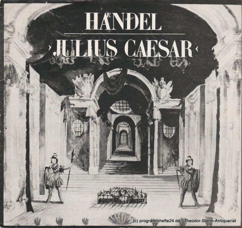 Hans-Otto-Theater Potsdam, Gero Hammer, Hans Dieter Arnold, Carola Hahn Programmheft Julius Caesar. Premiere 7. Oktober 1978 Schloßtheater im Neuen Palais. Programmheft 4-1978/79