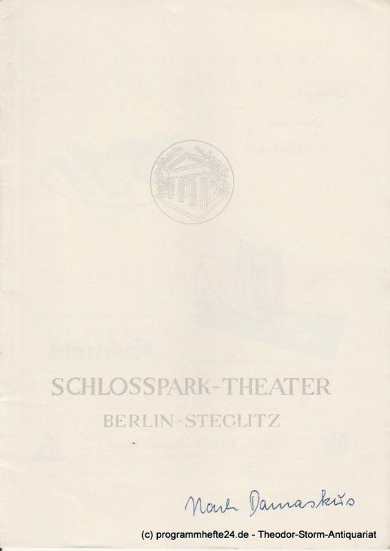 Schlosspark – Theater Berlin-Steglitz, Boleslaw Barlog Programmheft Nach Damaskus von August Strindberg. Spielzeit 1956 / 57 Heft 56