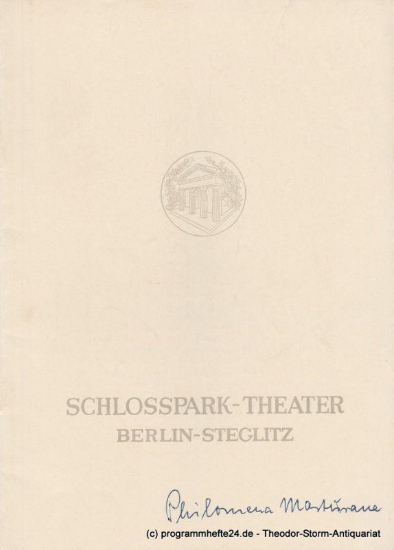 Schlosspark – Theater Berlin-Steglitz, Boleslaw Barlog Programmheft Philomena Marturano. Komödie von Eduardo de Filippo. Spielzeit 1952 / 53 Heft 20