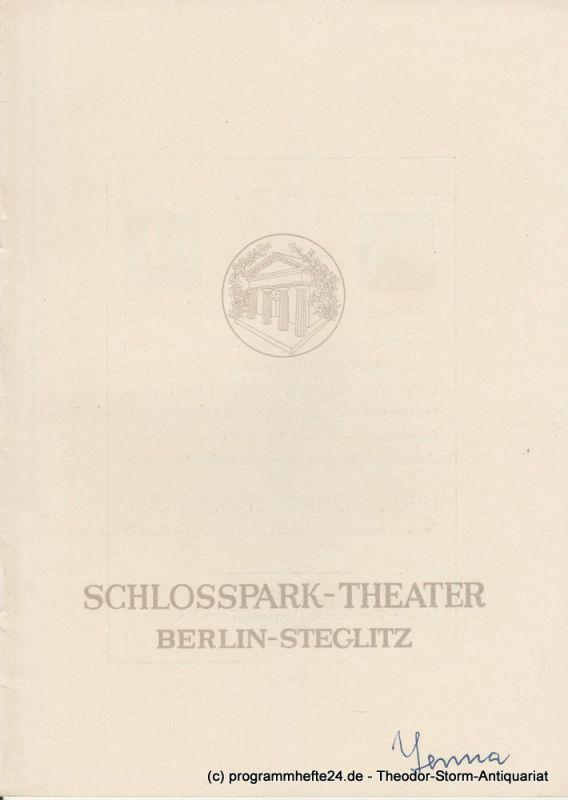 Schlosspark – Theater Berlin-Steglitz, Boleslaw Barlog Programmheft Deutsche Erstaufführung YERMA. Spielzeit 1952 / 53 Heft 19