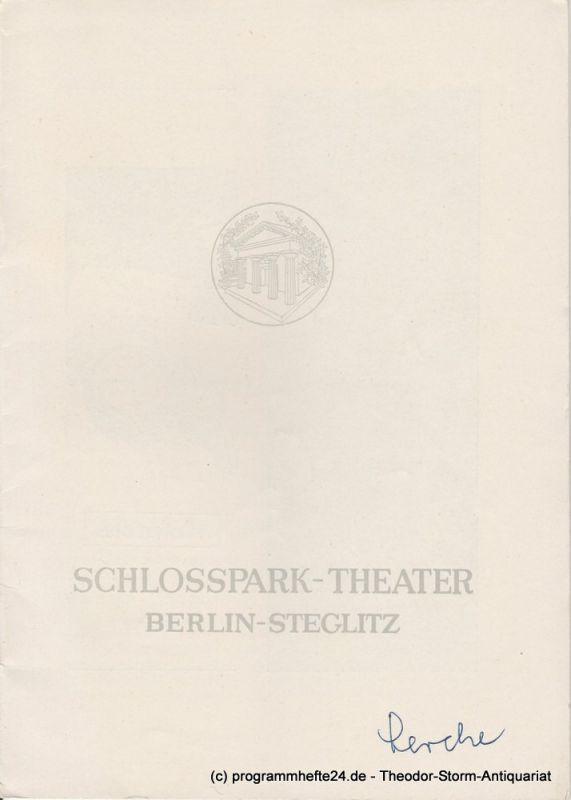 Schlosspark – Theater Berlin-Steglitz, Boleslaw Barlog Programmheft Die Lerche von Jean Anouilh. Spielzeit 1953 / 54 Heft 27