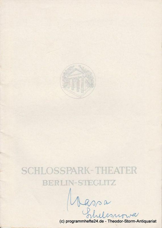 Schlosspark – Theater Berlin-Steglitz, Boleslaw Barlog Programmheft Wassa Schelesnowa. Drama von Maxim Gorki. Spielzeit 1964 / 65 Heft 128