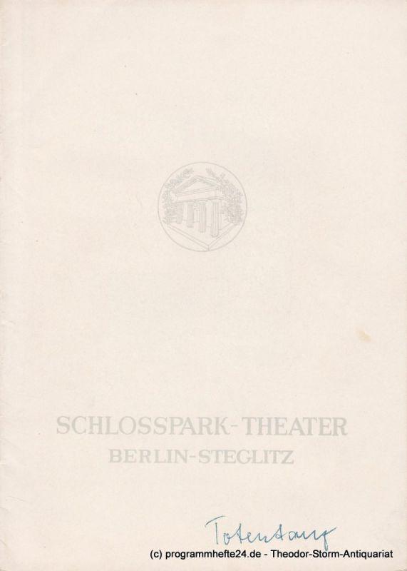 Schlosspark – Theater Berlin-Steglitz, Boleslaw Barlog Programmheft TOTENTANZ von August Strindberg. Spielzeit 1960 / 61 Heft 94