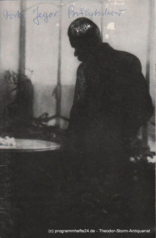 Schlosspark – Theater Berlin-Steglitz, Boleslaw Barlog Programmheft Jegor Bulytschow und die anderen. Szenen von Maxim Gorki. Spielzeit 1967 / 68
