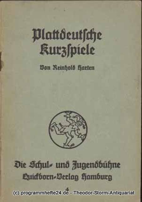 Harten Reinhold Plattdeutsche Kurzspiele