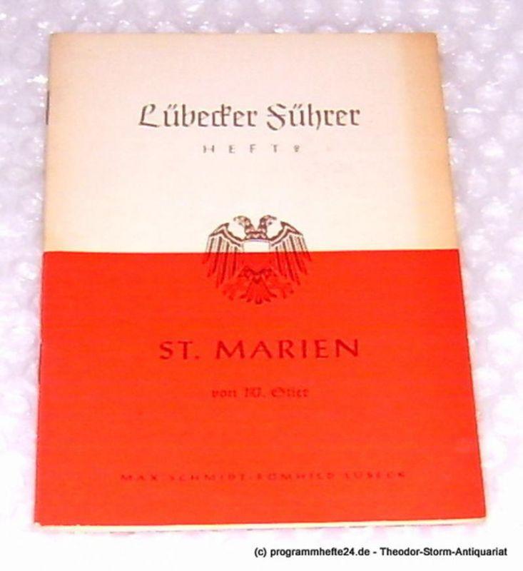 Stier W. St. Marien. Lübecker Führer Heft 2