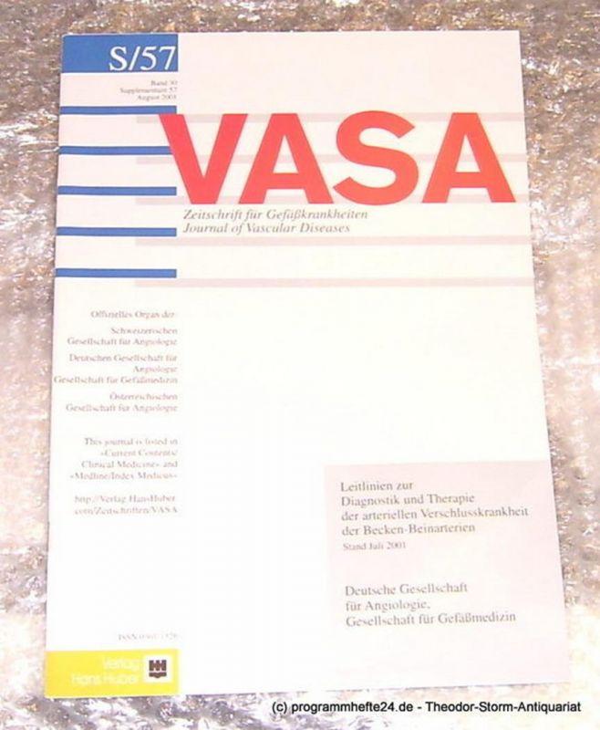 Creutzig Andreas VASA Zeitschrift für Gefäßkrankheiten. Journal of Vascular Diseases. Band 30 Supplementum August 2001