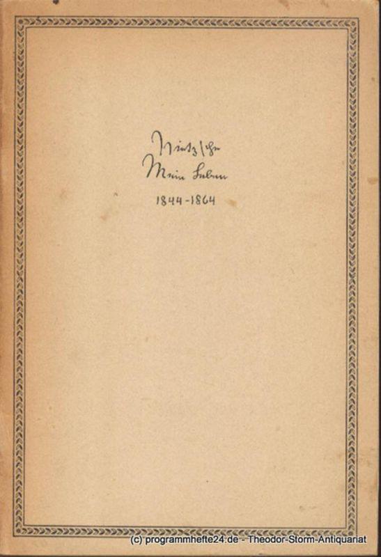 Nietzsche Friedrich Mein Leben. Mein Lebenslauf 1861 1863 1864. Dokumente zur Morphologie, Symbolik und Geschichte. Unter Mitwirkung von A. Buchenau, F.v.d. Leyen, J. Schuster herausgegeben