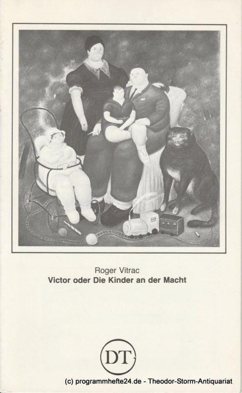 Deutsches Theater Göttingen, Günther Fleckenstein, Wilfried Harlandt Programmheft Victor oder Die Kinder an der Macht. Blätter des Deutschen Theaters in Göttingen Spielzeit 1983 / 84 Heft 523