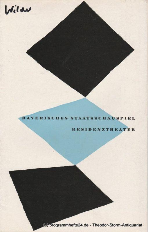 Bayerisches Staatsschauspiel, Residenztheater, Kurt Horwitz, Walter Haug Programmheft Die Heiratsvermittlerin. Spielzeit 1955 / 56 Heft 7