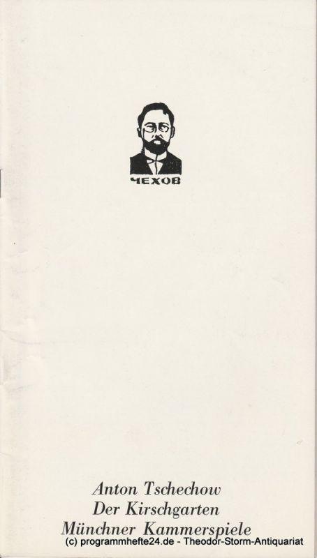 Münchner Kammerspiele, Hans-Reinhard Müller, Hans von Uslar, Wolfgang Zimmermann Programmheft Der Kirschgarten von Anton Tschechow. Spielzeit 1982 / 83 Heft 7
