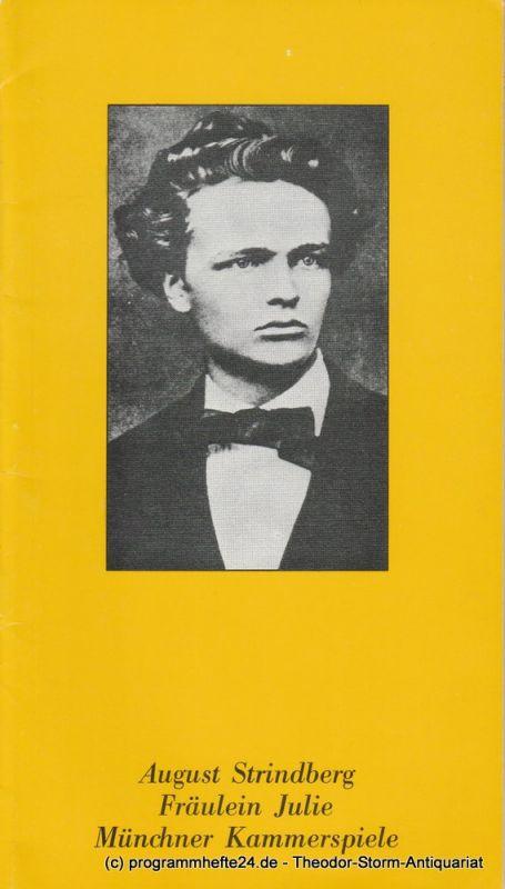 Münchner Kammerspiele, Hans-Reinhard Müller Programmheft August Strindberg: Fräulein Julie Spielzeit 1979 / 80 Heft 8
