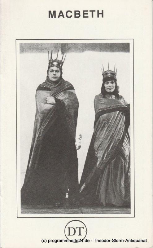 Deutsches Theater in Göttingen, Norbert Baensch Programmheft MACBETH. Tragödie von William Shakespeare Spielzeit 1980 / 81 Heft 484