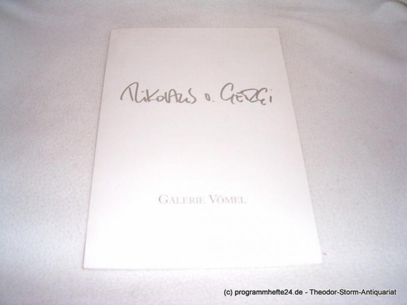 Georgi Nikolaus von Einladung. Zur Eröffnung der Ausstellung Nikolaus von Georgi laden wir Sie und Ihre Freunde am Sonntag, den 1.10.1989 um 17:30 Uhr, herzlich ein