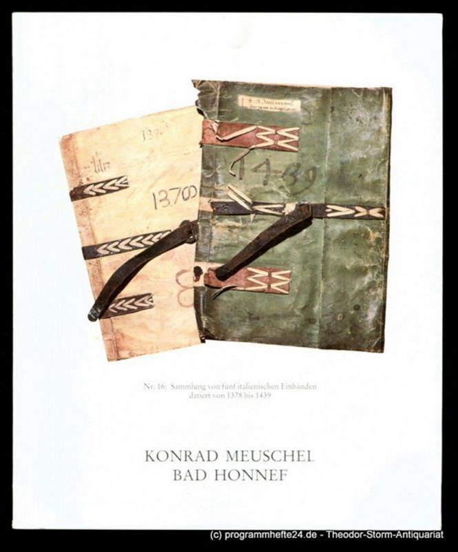 Meuschel Konrad Antiquariat Konrad Meuschel. Vierundachtzigster Katalog ( 84. )
