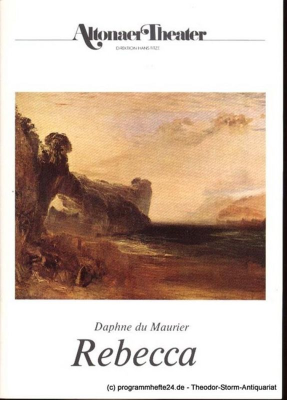 Maurier Daphne du Rebecca. Programmheft Spielzeit 1987 / 88 0
