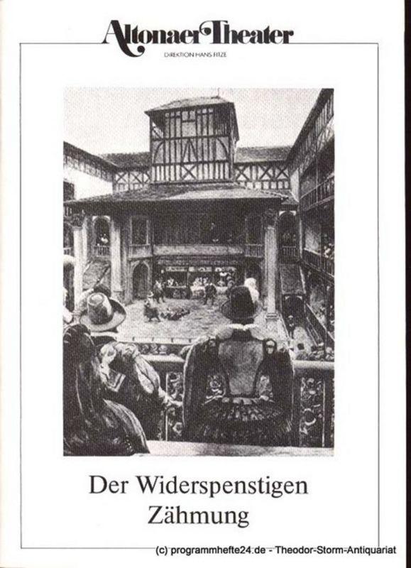 Shakespeare William Der Widerspenstigen Zähmung. Lustspiel in 12 Bildern. Programmheft 5 Spielzeit 1985 / 86