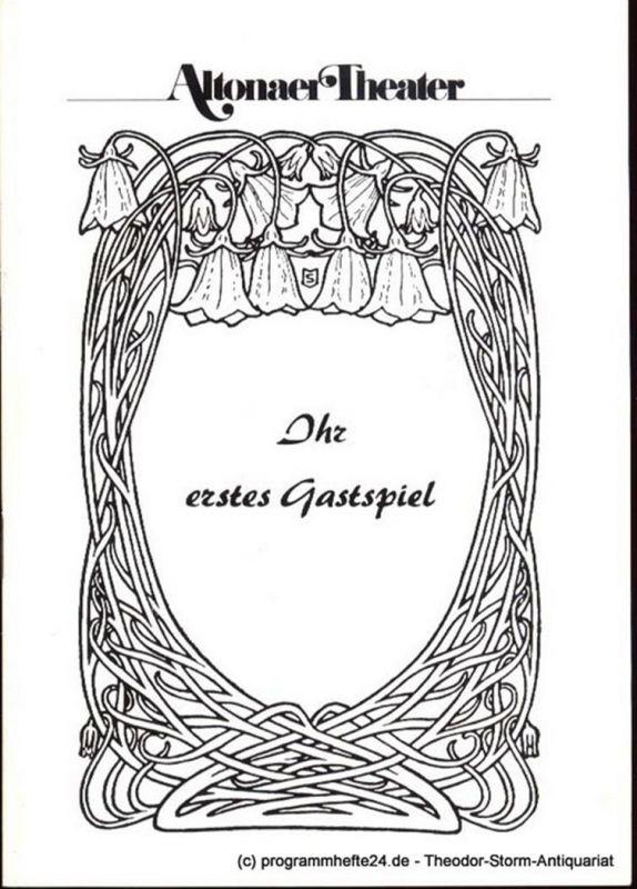 Kayser Conrad Ihr erstes Gastspiel. Lustspiel in 3 Akten. Neufassung. Programmheft Spielzeit 1982 1983