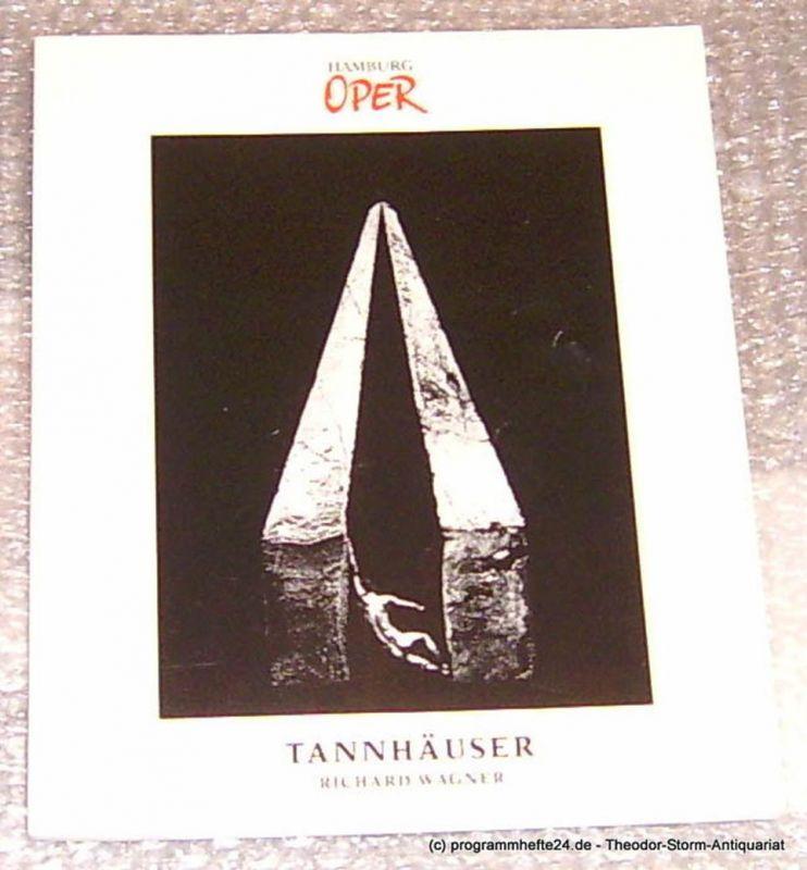Hamburgische Staatsoper, Konold Wulf, Cordes Annedore Programmheft zur Premiere Tannhäuser von Richard Wagner an der Hamburgischen Staatsoper am 25. März 1990