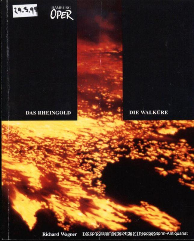 Hamburgische Staatsoper, Konold Wulf, Cordes Annedore Programmheft zur Premiere Die Walküre von Richard Wagner an der Hamburgischen Staatsoper am 25. Oktober 1992