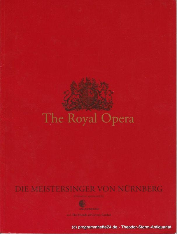 The Royal Opera Programmheft Die Meistersinger von Nürnberg. 15 March 1997