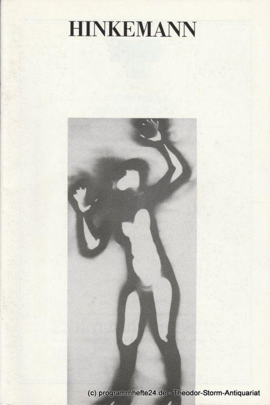 Theater Hof Programmheft HINKEMANN von Ernst Toller. Premiere 1. November 1990
